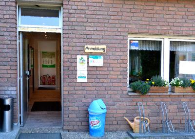 Eingang Waschräume