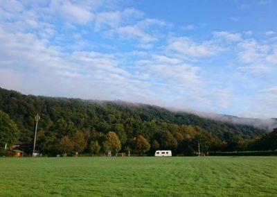 Aussicht ins Grüne | Campingplatz an der Sieg | Campingplatz Happach | Camping